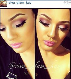 Bridesmaid makeup from viva_glam_kay