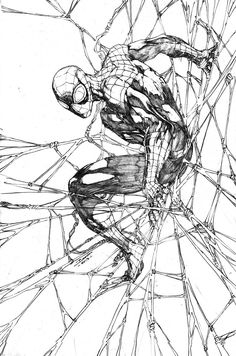 Brett Booth's sketch of the Superior Spider-Man