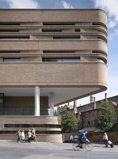 New building for Chetham's Music School in Manchester by Stephenson: ISA Studio with a grand top-lit atrium, a concert hall and a brick facade. Brick Cladding, Brick Facade, Brickwork, Facade Architecture, School Architecture, Amazing Architecture, Residential Architecture, Building Exterior, Building Facade