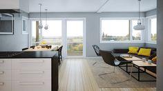 Åpen og smart planløsning som utnytter plassen maksimalt i vår moderne og tøffe bolig Emilie.