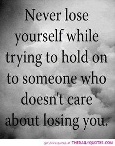 "hard to even say the words ""doesn't care about losing you"" . Quotes We Heart It, Life Quotes Love, Great Quotes, Quotes To Live By, Funny Quotes, Quote Life, Amazing Quotes, Words To Live By Quotes Life Lessons, Motivational Break Up Quotes"