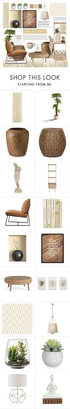"""""""MY ZEN PLACE"""" by celine-diaz-1 ❤ liked on Polyvore featuring interior, interiors, interior design, home, home decor, interior decorating, Williams-Sonoma, Pottery Barn, Elizabeth Scarlett and Threshold"""
