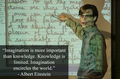 """Imagination is more important than knowledge. Knowledge is limited. Imagination encircles the world."" Referenced in Season 1, Episode 4 ""Plain Sight"" -Albert Einstein"