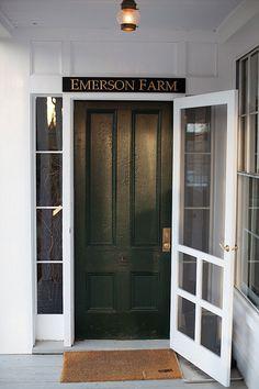 Front Door with Screen Door