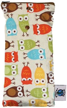 Planet Wise Wipe Pouch, Owl