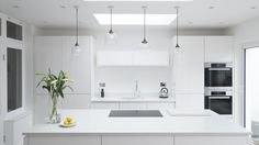 Chalkhouse sleek white gloss kitchen