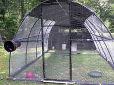 """Hoop Coop"" all PVC. Would be light and cheap, but still strong enough to withstand weather."