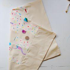 Screen printed scrap quilt - Gemma Patford www.gemmapatford.com