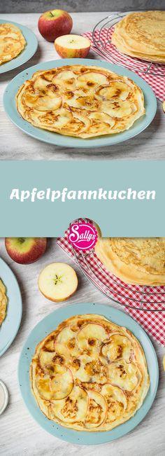 Für den Apfelpfannkuchen werden die Äpfel dünn gehobelt und mit Butter und Zu… For the apple pancake, the apples are thinly sliced and caramelized with butter and sugar. That's a great dessert! Homemade Pancakes, Pancakes Easy, Banana Pancakes, Pancake Healthy, Best Pancake Recipe, Great Desserts, Healthy Dessert Recipes, Cake Recipes, Desserts Sains
