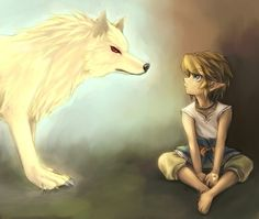 Twilight Princess Gold Wolf and look at that little link