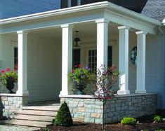 Ideas for Paint Fiberglass Porch Columns — Built With Polymer Design Porch Lattice, Fiberglass Columns, Front Porch Posts, Porch Pillars, Porch Enclosures, Pillar Design, Square Columns, Porch Veranda, Sand Glass