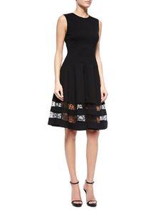 Lace-Inset Flounce Skirt Dress by Jason Wu at Bergdorf Goodman.