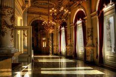 Monserrate Palace III by Sonia-Rebelo on DeviantArt Dream Fantasy, Fantasy Castle, High Fantasy, Fantasy World, Semperoper Dresden, Dark Castle, Fantasy Landscape, Architecture, Foyer