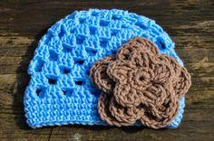 Baby Trillium Beanie Open Stitch Crochet Hat by courtneyannabanana, $20.00