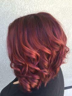 ❤️ lovin my new merlot & rosé hair. Hair creds: Tiffany Ivey Hair color inspiration : plum, merlot, rose gold
