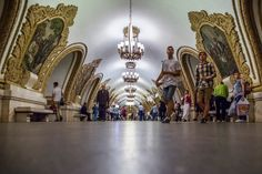 Moscow subway stations are so beautiful, you should visit even if you don't use the train
