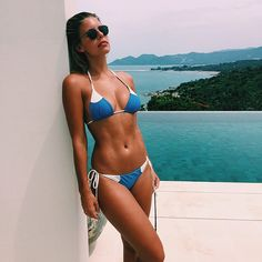 Fit and gorgeous Natasha Oakley in lovely bikini.