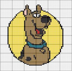 Scooby doo - this could be a postage stamp quilt