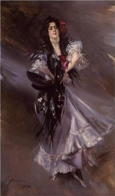 """Portrait of Anita de la Ferie - The Spanish Dancer"", 1900, by Giovanni Boldini (Italian, 1842-1931)."