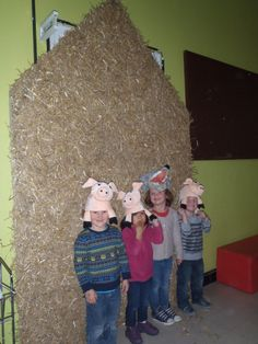 De drie biggetjes School, Decor, Nursery Rhymes, Decoration, Decorating, Deco