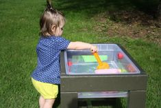 Learn How to Build a Toddler's Water Table! Only about $30 in materials.