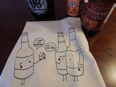 Crafty Beer Bar Towel, perfect stocking stuffer or Secret Santa Christmas present #BrewerShirts