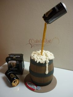 Guinness and Chocolate - by Cakesmart @ CakesDecor.com - cake decorating website