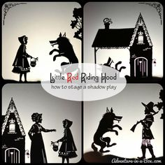 Little Red Riding Hood Puppet Show: Bunny Room, Stages Of Baby Development, Wolf Silhouette, Shadow Theatre, Famous Fairies, Visual And Performing Arts, Puppet Show, Shadow Play, Shadow Puppets