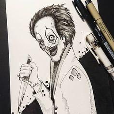 Inktober 2018 / the evil clown / circus inktober character art Clown Images, Dark Circus, My Dentist, Cross Hatching, Evil Clowns, Daily Drawing, Illustration Artists, Traditional Art, Inktober