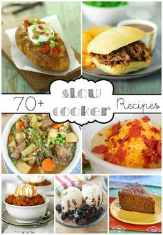 70+ Slow Cooker Recipes: The cooler fall weather is the perfect time for crockpot recipes!