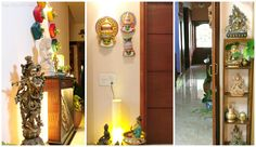 Design Decor & Disha: Indian Home, Kathakali Masks, Brass Decor, Indian Decor, Ethnic Indian Decor, Indian Living Room