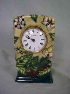 Moorcroft China Small Mantel Clock, Old Clocks, Mantle Clock, Antique Clocks, Michael Cunningham, Halcyon Days, Grandfather Clock, Automata, Tic Tac