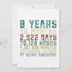 Vintage 8 Years Old Birthday Boy Girl Holiday Card Boys 8th Birthday, It's My Birthday Shirt, Boy Birthday Parties, Diy Birthday, Birthday Quotes, Husband Birthday, Birthday Images, Birthday Ideas, Happy Birthday