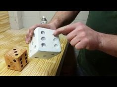 DIY Wooden Dice for Yardzee Game with Free Game Printables - YouTube