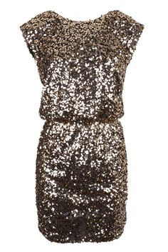 Gold Sequin Dress With Elasticated Waistband by Fashion Union Vestido Charro, Nice Dresses, Sexy Dresses, Formal Dresses, Gold Sequin Dress, Glamour, Dress Me Up, Passion For Fashion, Fashion Outfits