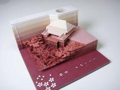 Omoshiroi Block: Paper memo pad that reveals hidden objects - 4