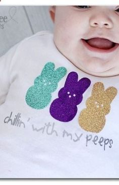 super fun and simple shirt to make for Easter (using glitter vinyl) - Chillin With My Peeps ~ Sugar Bee Crafts