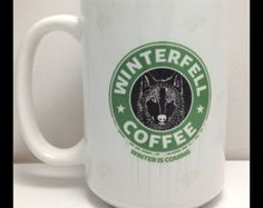 Game of Thrones Winterfell Coffee Mug Large 15oz Mug Starks