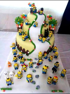 Minion cake can this be my birthday cake. Minion power