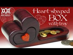 Steve Ramsey diy tutorials for woodworking! Heart-shaped box with tray. Valentine's Day gift idea.