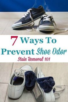 Here are 7 ways you can prevent shoe odor, plus an explanation of what causes the problem so you can avoid smelly and stinky shoes from now on {on Stain Removal 101} #ShoeOdor #SmellyShoes #StinkyShoes Deep Cleaning Tips, House Cleaning Tips, Spring Cleaning, Cleaning Hacks, Homemade Shower Cleaner, Stinky Shoes, Clean Baking Pans, Clean Dishwasher, Professional Cleaning