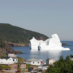 We Harvest Icebergs in Labrador and Newfoundland Every spring, massive islands of ice broken off of glaciers in Greenland parade through 'Iceberg Alley', past the coast of Labrador and Newfoundland. Entrepreneurs are harvesting chunks of these cool marv Newfoundland And Labrador, Newfoundland Canada, Atlantic Canada, Canada Eh, L'oréal Paris, Canada Travel, Lake Michigan, East Coast, Titanic