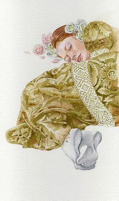 Young lady-Country girl ~ by Masha Kurbatova. Watercolor on Canson aquarelle paper.