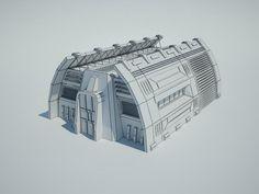Futuristic Sci Fi Building 9 Architecture  3D Models