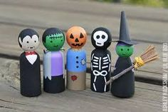 Image result for halloween pegdolls
