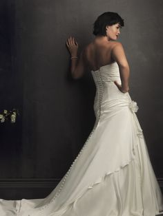 Allure Bridals : Women Collection : Style W250 : Available colours : White, Ivory (back)