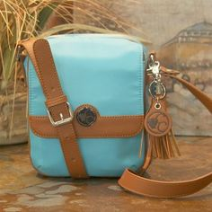 Casual Carrie Crossbody Compact- Turquoise