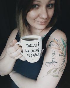 Find handmade mugs at instagram @jeszczelepiej  #tattoo #tattoos #tattooedgirl #ink #flowerpower #tatuaż #tatuaże #kubek #handmade Flower Power, Mugs, Tableware, Handmade, Instagram, Dinnerware, Cups, Dishes, Craft