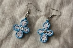 paper quilled earrings on minne(ミンネ)| クイリングのピアス