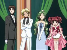 Keiichirou, Ryou, Retasu, and Ichigo(LOOK AT THESE ADORABLE CHILDREN I LOVE THEM ALL)
